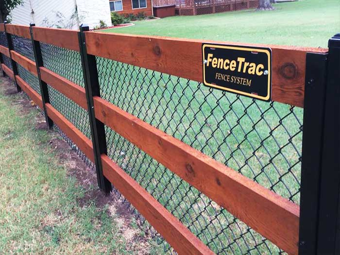 Rail Fence With Chainlink