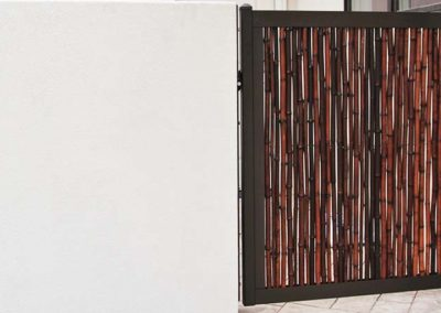 Bamboo Privacy Fence Gate