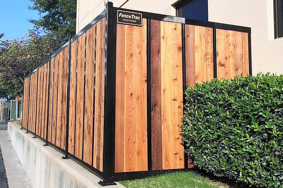 Build A Wood Fence With Metal Posts That S Actually