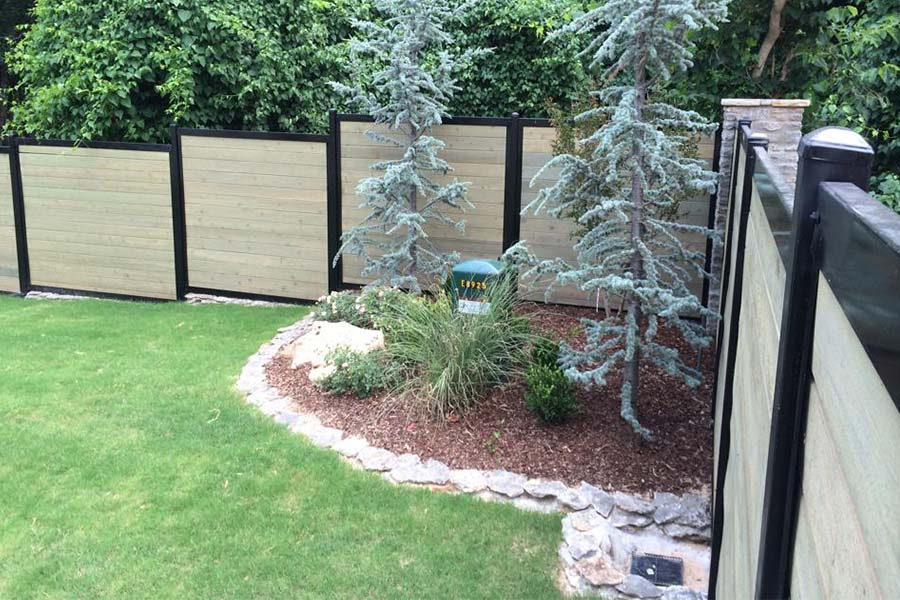 FenceTrac Upscale Privacy Fence on Slope
