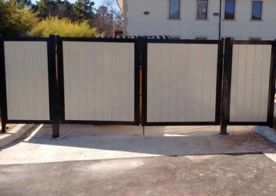 FenceTrac Dumpster Enclosure Heavy Duty