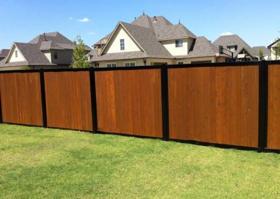 Neighborhood Perimeter Privacy Fence Wood & Metal