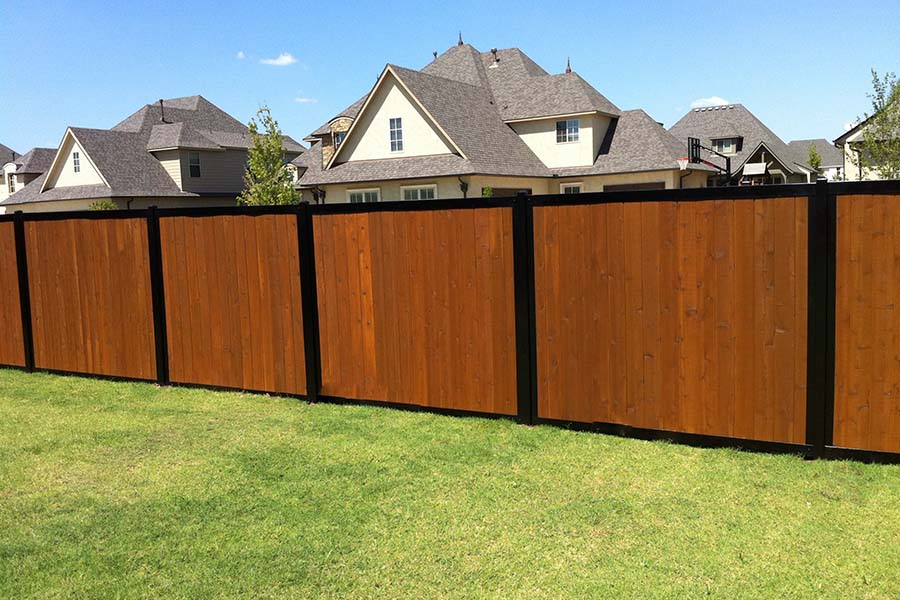 FenceTrac Neighborhood Perimeter Privacy Fence Wood & Metal