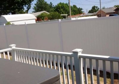 White Privacy Fence Vinyl & Metal Frame
