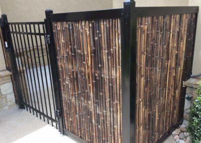 Bamboo Privacy Fence With Metal Frame