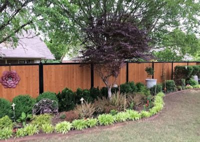 Wood & Metal Privacy Fence