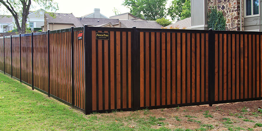 Privacy Fence With Metal Posts Amp Frame Outlasts Wood