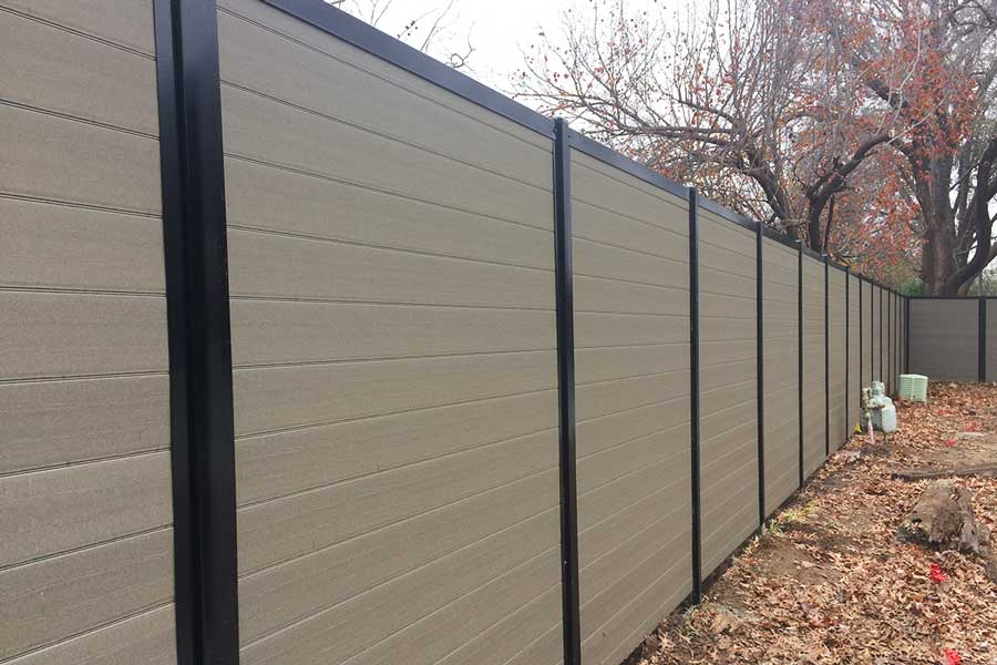 Privacy Fence with Composite Wood