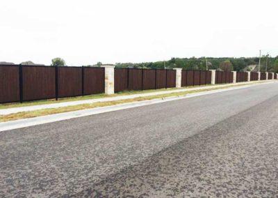HOA Neighborhood Upscale Privacy Fence Rock Columns