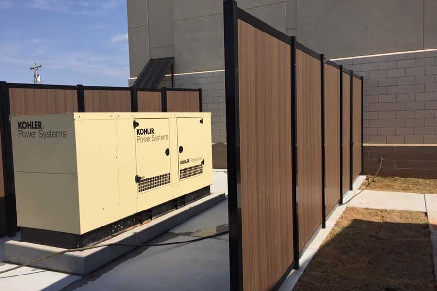 Generator Enclosure Privacy Fence