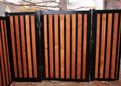 Iron and Wood Privacy Fence Gate