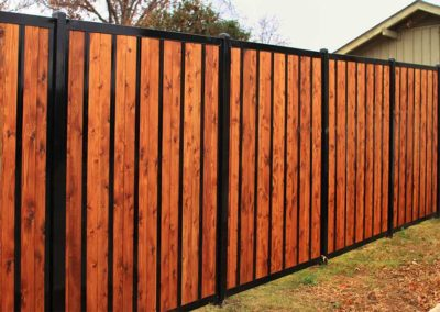 Iron and Wood Privacy Fence