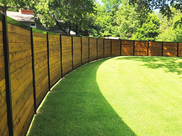 Curved Privacy Fence