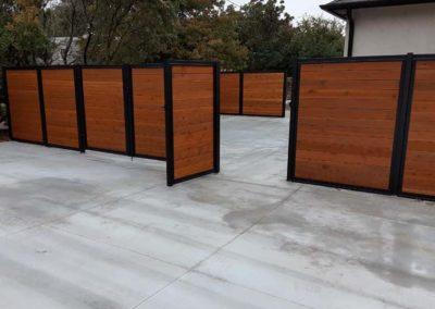 Wood & Metal Fence