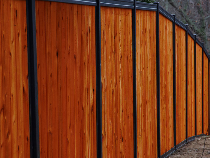 FenceTrac With Stained Wood